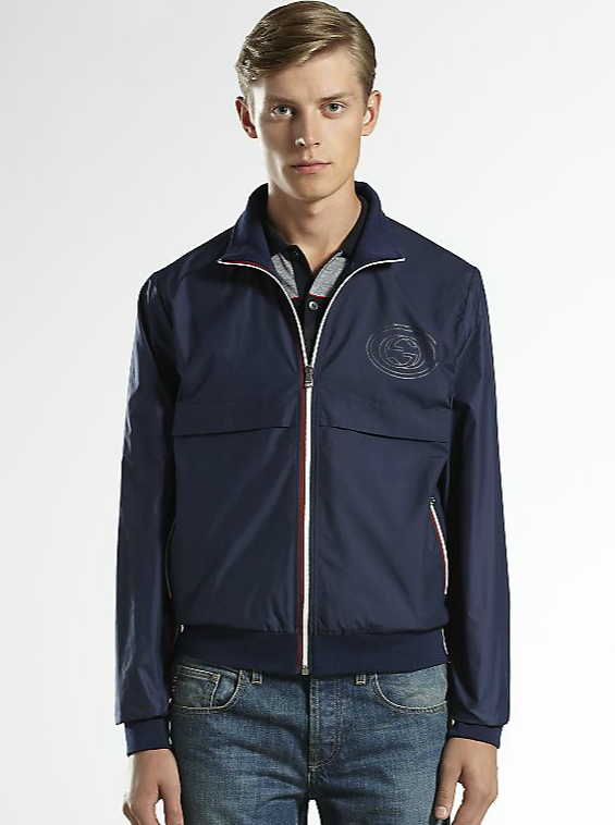 Gucci Techno Nylon Bomber Jacket. Click image to shop