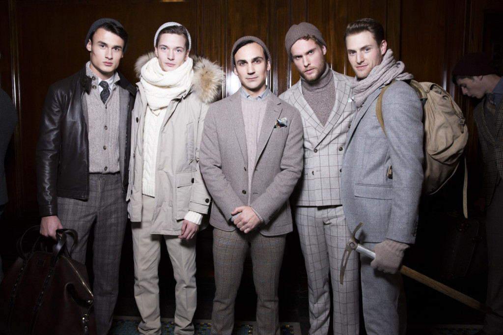 Hackett London AW14, backstage (Image: Sam Wilson, BFC)
