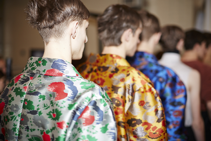 J.W. Anderson AW14, backstage (Image: Shaun James Cox, BFC)