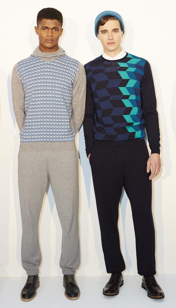 Left: O'Shea at Select / John Smedley AW14 (Image: Shaun James Cox, BFC)