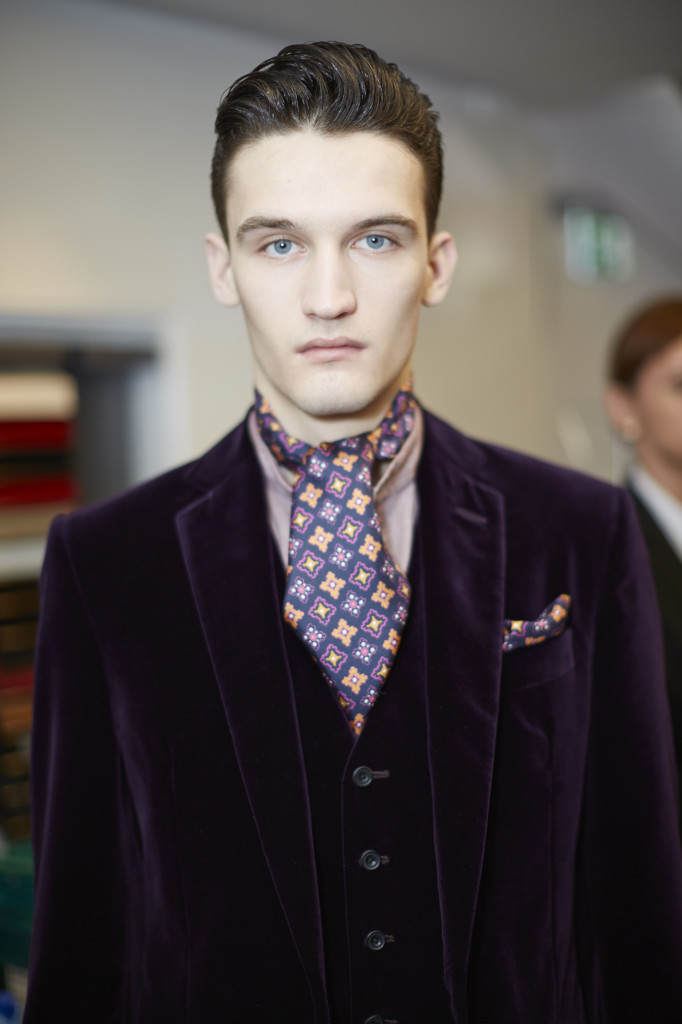 Richard James AW14, backstage (Shaun James Cox, BFC) 1