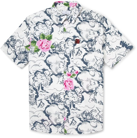Hentsch Man for MR PORTER white floral shirt