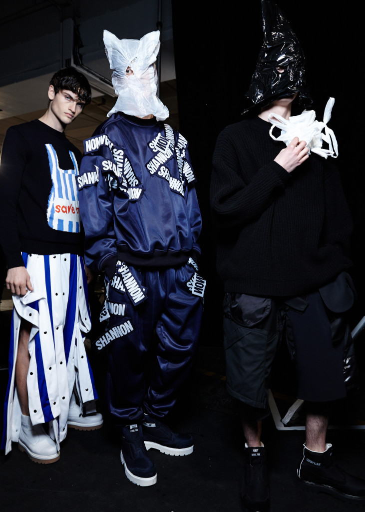 Christopher Shannon AW15, backstage (Sam Wilson, British Fashion Council) 11
