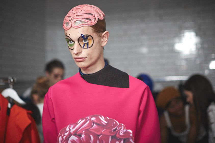 Katie Eary AW15, backstage (Shaun James Cox, British Fashion Council) 2