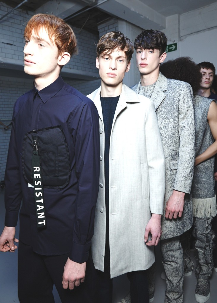 Matthew Miller AW15, backstage (Ph: Sam Wilson, British Fashion Council)