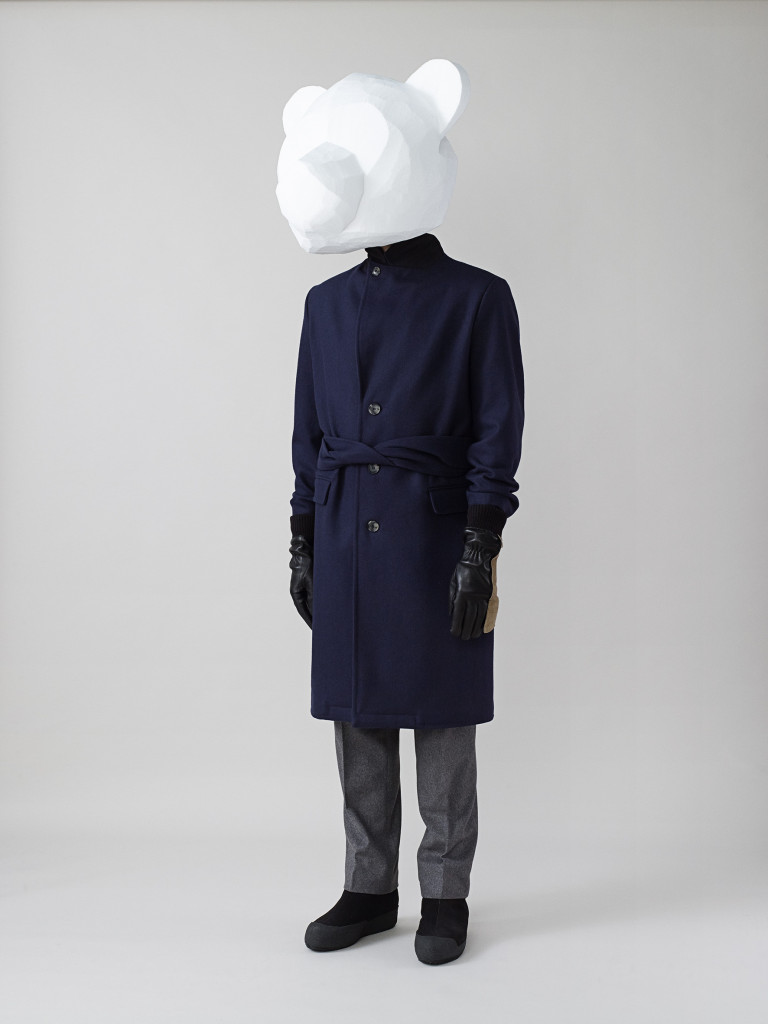 Single Breasted Coat in Navy Wool[2][2][1][2][2]