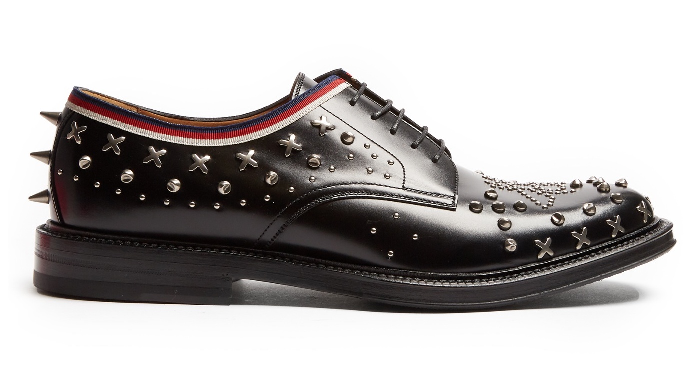 Lulu Online Shopping Clientstyle Gucci Beyond Stud Embellished Leather Derby